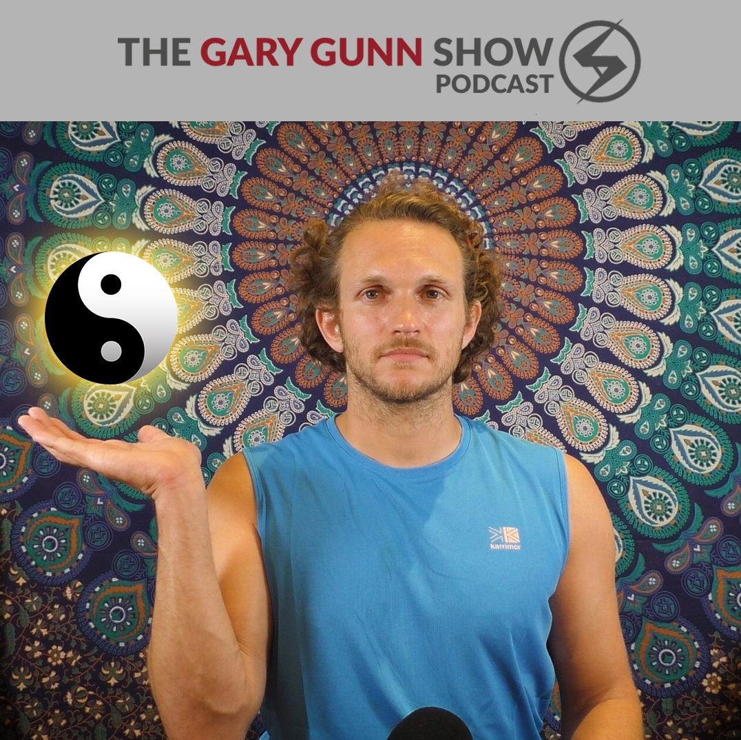 Gary Gunn meditating in his meditation chamber