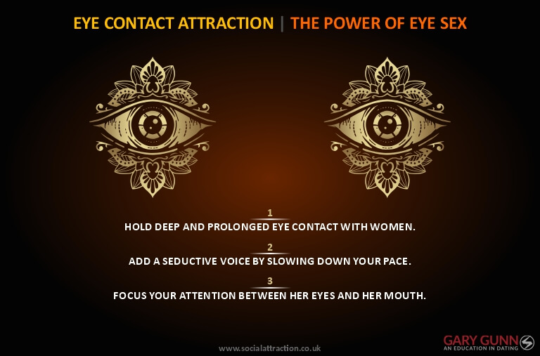 Simple guide to seducing her with your eye contact once you have conquered toxic shame