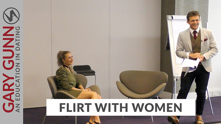 Gary Gunn hosting a course on how to recognise signs she's flirting and flirt back