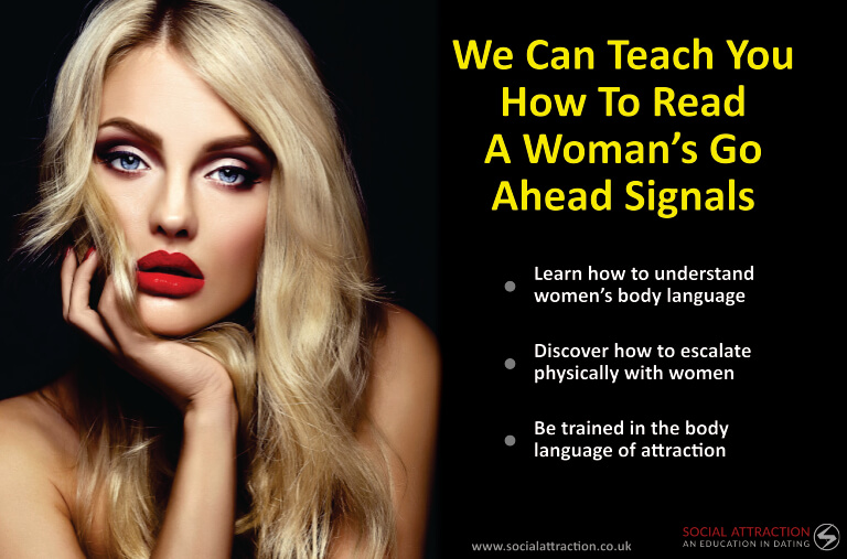 A model with three ways to read her go-ahead signals