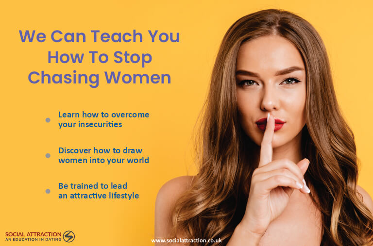 Model next to three ways to stop chasing women