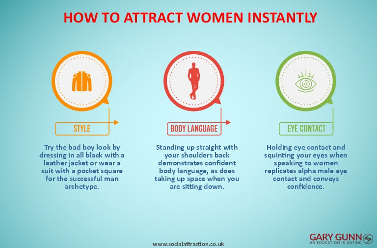 Three different ways to attract women instantly